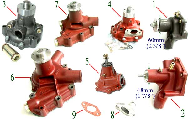 Fiat Tractor Spindles : Water pumps bare co