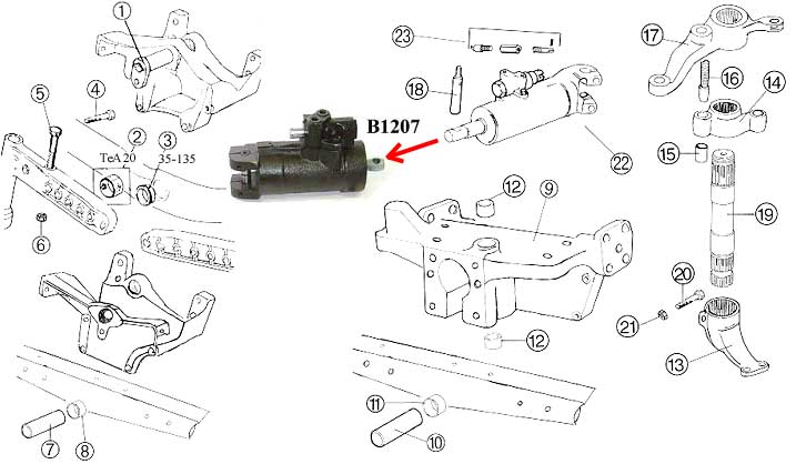 mf - steering - axle support 2wd
